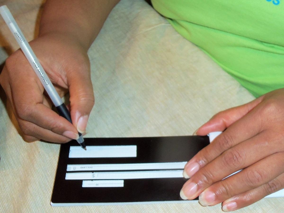 Empish Writing a Check