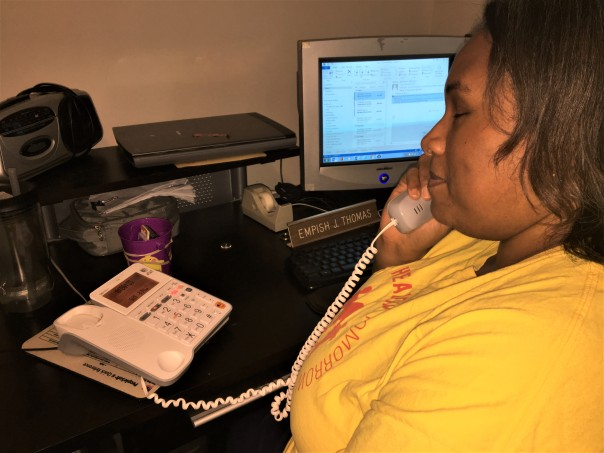 Empish Using a Landline Phone