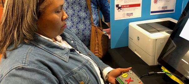 Empish at Paper Voting Machine Demo