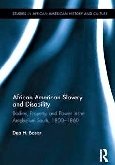 African American Slavery and Disability Book Cover