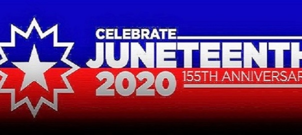 Juneteenth Logo- Celebrating 155th Anniversary