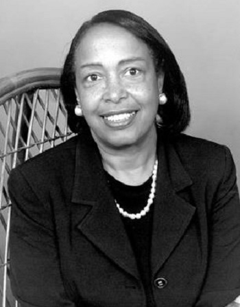 A black and white photo of a young Patricia E. Bath